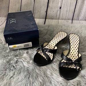 AK Anne Klein Malden Slip-On Heeled Bow Sandals